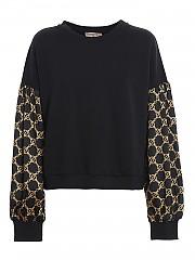 [관부가세포함][트윈셋] FW20 여성 satin sleeve cotton 스웨터 (202TT2422 05795)