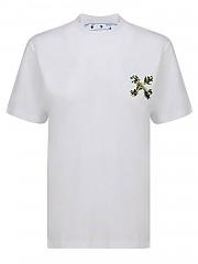 [관부가세포함][오프화이트] FW20 여성 floral embroidery 티셔츠 (OWAA049E20JER0100155)