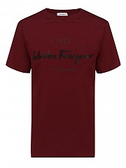 [관부가세포함][살바토레 페라가모] FW20 여성 embossed logo 티셔츠 (740164 NEBBIOLO)