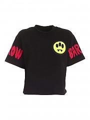 [관부가세포함][배로우] FW20 여성 크롭 반팔 티셔츠 (028027 110)