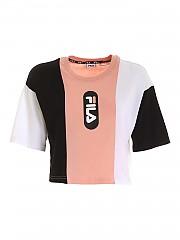 [관부가세포함][휠라] FW20 여성 크롭 반팔 티셔츠 (687943 A739)