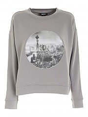 [관부가세포함][DKNY] FW20 여성 크루넥 맨투맨 스웨트셔츠 (P0GHEGL7 GRY)