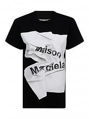 [관부가세포함][메종 마르지엘라] FW20 여성 logo printed jersey 티셔츠 (S51GC0499 S22816 900)