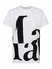 [관부가세포함][메종 마르지엘라] FW20 여성 logo printed 티셔츠 (S51GC0496 S22816 100)
