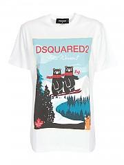 [관부가세포함][디스퀘어드2] FW20 여성 반팔 티셔츠 (S75GD0107 S23009 100)