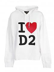 [관부가세포함][디스퀘어드2] FW20 여성 후드 티셔츠 (S75GU0302 S25475 100)
