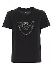 [관부가세포함][핀코] SS21 여성 반팔 티셔츠 (1G1610Y4LXZ99)
