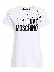 [관부가세포함][러브모스키노] SS21 여성 반팔 티셔츠 (W4F731LM3876A00)