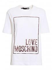[관부가세포함][러브모스키노] SS21 여성 반팔 티셔츠 (W4H0605M3876A00)