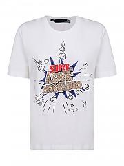 [관부가세포함][러브모스키노] SS21 여성 반팔 티셔츠 G(W4H0608M3876A00)