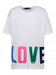 [관부가세포함][러브모스키노] SS21 여성 반팔 티셔츠 G(W4F8783M3876A00)