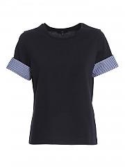 [관부가세포함][페이] SS21 여성 turn-up sleeve 티셔츠 (NPWB2425840RVRU807)
