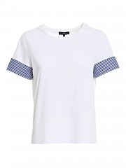 [관부가세포함][페이] SS21 여성 turn-up sleeve 티셔츠 (NPWB2425840RVRB001)