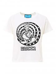 [관부가세포함][구찌] SS21 여성 반팔 티셔츠 (644674XJDBE9095)