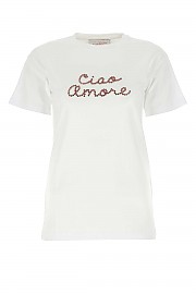 [관부가세포함][지아다 베닌까사] FW20 여성 로고 반팔 티셔츠 G(F0803T R1)