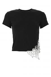 [관부가세포함][아레아] FW20 여성 크롭 반팔 티셔츠 G(PF20T08003 BLACK)