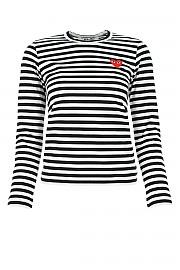 [관부가세포함][꼼데가르송 플레이]  여성 티셔츠 G(P1T163 001)