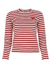 [관부가세포함][꼼데가르송 플레이]  여성 티셔츠 G(P1T163 004)
