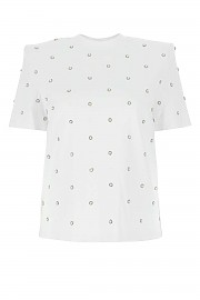 [관부가세포함][에이맨] FW20 여성 반팔 티셔츠 G(ACW20215 BIANCOOTTICO)