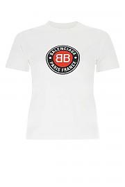 [관부가세포함][발렌시아가] FW20 여성 반팔 티셔츠 G(612964TJVD6 9000)