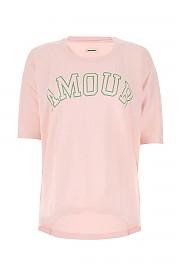 [관부가세포함][쟈딕앤볼테르] SS21 여성 반팔 티셔츠 G(WJTS7101F ROSE)