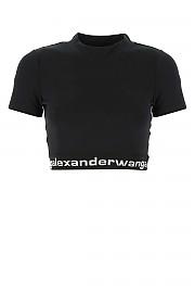 [관부가세포함][알렉산더 왕] SS21 여성 반팔 크롭 티셔츠 G(4CC1211175 001)