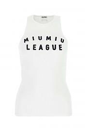 [관부가세포함][미우미우] SS21 여성 민소매 티셔츠 G(MJT6251YF6 F0009)
