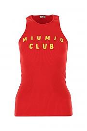 [관부가세포함][미우미우] SS21 여성 민소매 티셔츠 G(MJT6281YF6 F0011)