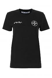 [관부가세포함][오프화이트] SS21 여성 반팔 티셔츠 G(OWAA049R21JER008 1001)