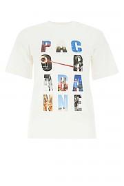 [관부가세포함][파코라반] SS21 여성 반팔 티셔츠 G(21PJTE043C00378 P100)