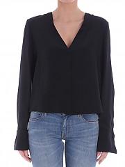 [관부가세포함][다이앤폰퍼스텐버그] Black silk shirt (11502 BALCK)