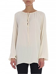 [관부가세포함][띠어리] Cream-colored Theory blouse with drawstring (I1002502 CREAM YELLOW)