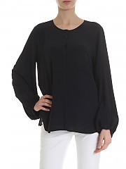 [관부가세포함][her shirt] Aerin shirt in black silk (A01643 240A 999)