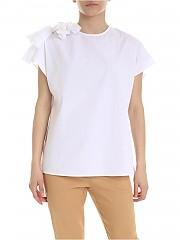 [관부가세포함][퍼지] White blouse with bow (F91470 11587 001)