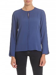 [관부가세포함][her shirt] Aiden blouse in blue (A01642 740 808H)