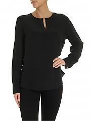 [관부가세포함][바르바] FW19 여성 V-neck 블라우스 in black (AI19-15 1764-09)
