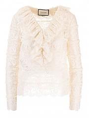 [관부가세포함][구찌] FW20 여성 ruffles lace shirt (633308 ZAFI4 9200)