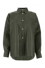 [관부가세포함][로에베] FW20 여성 셔츠 G(S359337XBW DRKGREEN)