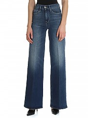 [관부가세포함][프레임] Palazzo jeans in blue cotton (LPP415 PARK CITY)