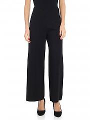 [관부가세포함][Pierantonio Gaspari] Black Milano fabric palazzo trousers (1N6511 HI891 V.91 NERO)