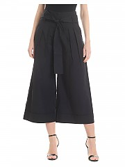 [관부가세포함][퍼지] Wide black crop trousers (F91472 11587 999)