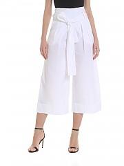 [관부가세포함][퍼지] Wide white crop trousers (F91472 11587 001)