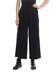 [관부가세포함][Y's 요지야마모토] Y'S Pink Cropped trousers in black (YJ-P42-130)