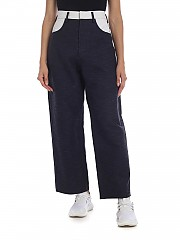 [관부가세포함][소피 드 후레] Poet trousers in blue and black (POET CCANV NAVY)