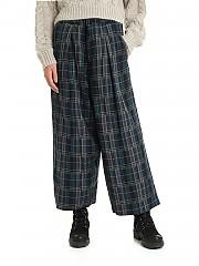 [관부가세포함][Y's 요지야마모토] FW19 Wide 여성 팬츠 with tartan pattern (YC-P05-113-1)