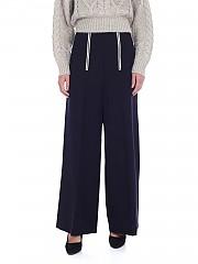 [관부가세포함][Y's 요지야마모토] FW19 Pink blue 여성 팔라쪼 팬츠 with front zip (YC-P40-133-1)