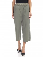 [관부가세포함][DKNY] SS20 여성 크롭트 팬츠 Branded elastic pants in sage green (P9JK0DQO SAG)