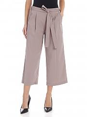 [관부가세포함][DKNY] SS20 여성 크롭트 팬츠 Crop pants in dove gray with bow at the waist (P9JK0DRB TPE)