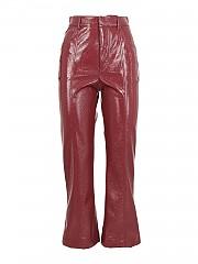 [관부가세포함][필라소피 드 로렌조 세라피니] FW20 여성 faux leather bootcut 팬츠 (A03365741 0140)