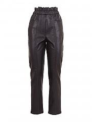 [관부가세포함][필라소피 드 로렌조 세라피니] FW20 여성 faux leather 팬츠 (A03185742 0555)